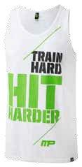 MusclePharm Sportswear Train Hard Hit Harder Tank - White XL