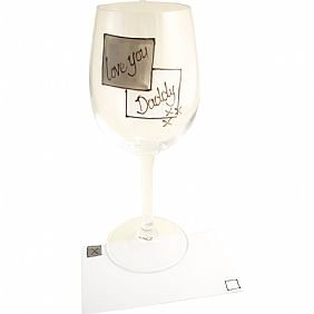 Love You Daddy Wine Glass(grey sq)