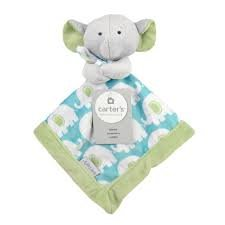 Carter's Security Blanket, Blue/Green Elephant (Discontinued by Manufacturer)