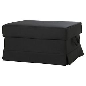 Brand New Same Day Shipping Ikea Ektorp Bromma Footstool Cover Idemo Black Denim Slipcover 001.196.07 New In Box