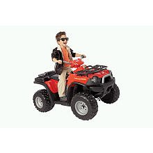 Power Wheels Fisher-Price Kawasaki Red Brute Force ATV