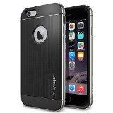 iPhone 6 ケース Spigen [ リアル アルミニウム バンパー] ネオ・ハイブリッド メタル iPhone 4.7 (2014) (国内正規品) (スペース・グレー 【SGP11176】)