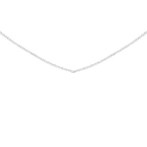 Childrens Cable Chain Necklace Sterling Silver 13 inches Adjustable Length - Made in the USA