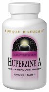 Source Naturals - Huperzine A For Learning And Memory 200 Mcg. - 60 Tablets