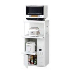 エムケー レンジ台(米びつ20kg付) 【ファインキッチン】 ホワイト SK-206W