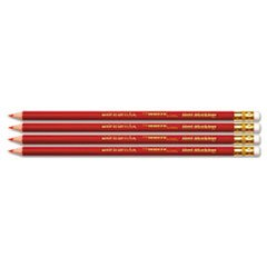 New USA Made Checking Pencils; Red; Pre-Sharpened; 4-Pack #