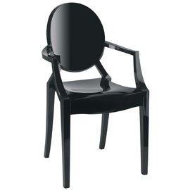 Louis Ghost Chair by Kartell - Glossy Black