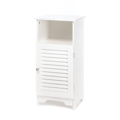 VERDUGO GIFT CO Nantucket Storage Cabinet End Table Nightstand, White