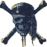 Blue Mountain Wallcoverings DMM2522 Pirates Self-Stick Mini Wall Mural