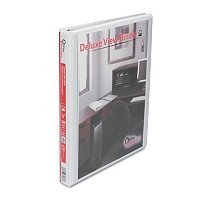 Office Impressions Round Ring Economy Vinyl View Binder, 1/2 Inch Capacity, White (82232) 12pack