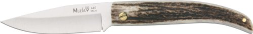 Muela 7.5-Inch Fixed Blade Knife, Curved Stag Handle