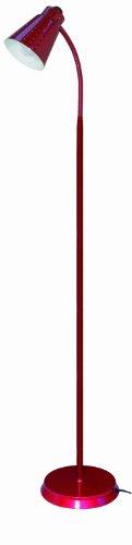 Nuvo 60/823 Goose Neck Floor Lamp, Metallic Red front-86309