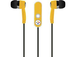 NFL Pittsburgh Steelers Hands Free Ear Buds with Microphone at Amazon.com