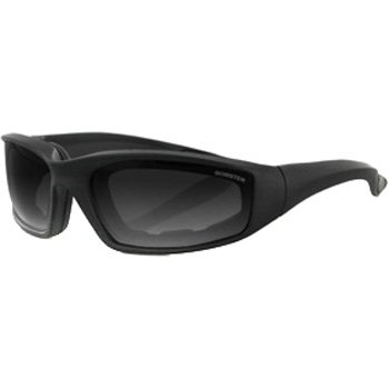 Bobster Foamerz 2 Motorcycle Cruiser Sunglasses - Black/Smoke / One Size Fits All