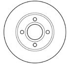 Kavo BR-5780 Brake Disc - (Set of 2)