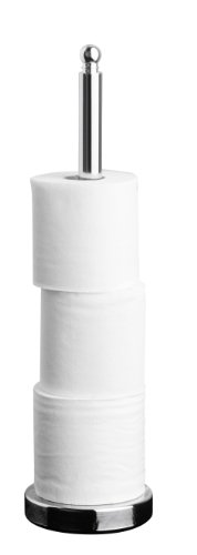Premier Housewares Toilet Roll Storer - Chrome