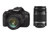 Canon EOS 550D Appareil photo numérique Reflex 18 Mpix Kit + Objectif 18-55mm IS + Objectif 55-250mm IS Noir