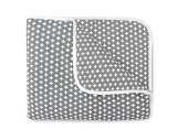 Olli & Lime Cross Crib Quilt, Gray/White