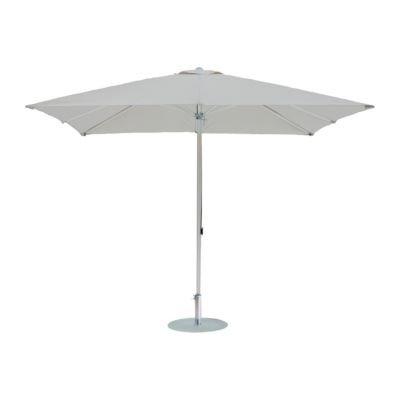 Alu-Sonnenschirm rund grauweiß ø 300 cm / 6 Rippen online bestellen