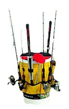 Frabill ice fishing pail pack ice fishing for Fishing caddy bucket