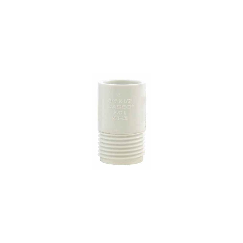 14 each Charlotte PVC Garden Hose Adapter (PVC 02110H