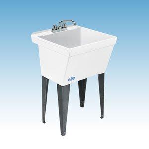 Mustee 17F Durastone Utility Floor Sink - White