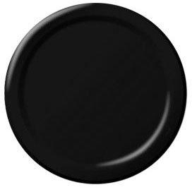 Jet Black Paper Dessert Plates (20ct)