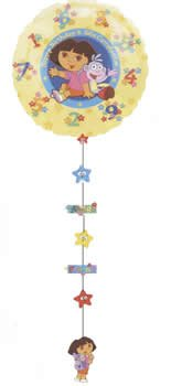 Dora the Explorer Drop a Line Birthday Party Balloon