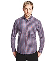 Blue Harbour Supersoft Pure Cotton Twill Mini Checked Shirt