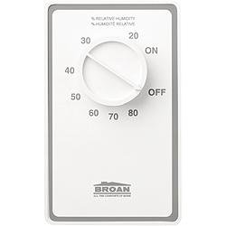 Broan Dh100W Dehumidistat Control Switch, White