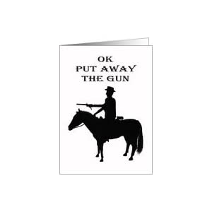 ... black and white.western horse and rider,humor, for