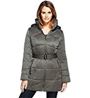 M&S Collection Hooded Belted Coat with Stormwear™