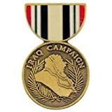 United States Armed Forces Mini Award Medal Pin - Iraq Campaign Medal
