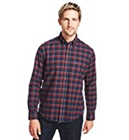Blue Harbour Supersoft Pure Cotton Tratan Checked Shirt