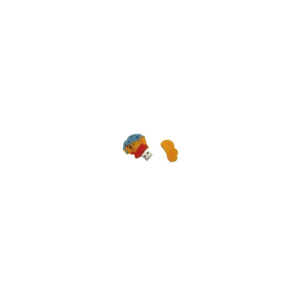 8GB Winnie Pooh Shaped Cartoon USB Flash Drive Yellow