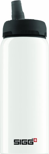 Sigg Nat Water Bottles, White, 1.0-Liter front-652321
