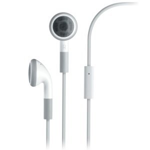Stereo Headset /w Microphone for Apple iPhone 3G (White)-