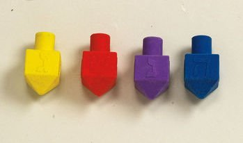 Rite Lite Dr-E Assorted Colors Chanukah Eraser Draydels - Set Of 4 - Pack Of 25