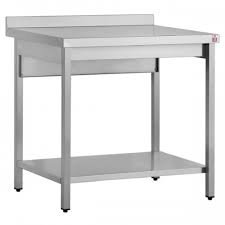 Inomak, High Grade AISI 304 Stainless Steel, Work Benches & Centre Tables, Wall Bench Type, Size (HxWxD) 900 x 1900 x 700 (mm), Weight 60 kg,