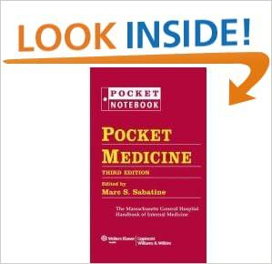 Cover pocket medicine  sabatine