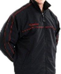 KooGa Mens Teamwear Track Jacket Adults - Small - Black/Red
