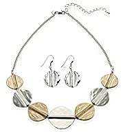 Tribal Coin Necklace & Earrings Set