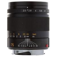 "Leica 75Mm F/2.5 Summarit-M, Telephoto Manual Focus Lens For M System, Black - Usa ""Demo Model"" / Open Box"