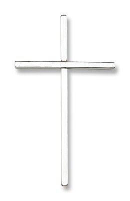 Crucifix Cross Sterling Silver Medal with 24