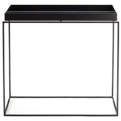TRAY TABLE Quadratisch Schwarz 40 x 40 cm HAY