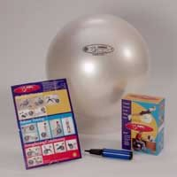 FitBALL Exercise Ball Package - 65cm Color: Purple