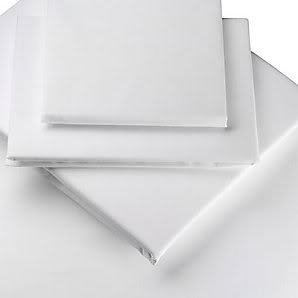 """Extra Deep 26"""" VALANCE Sheet, King Bed Size, White, 200 Thread Count Percale by Viceroybedding"""