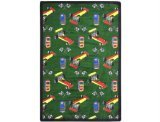 "Joy Carpets Playful Patterns Children's Pit Stop Area Rug, Green, 3'10"" x 5'4"""