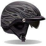 Bell Mens Pit Boss Open Face Motorcycle Helmet Flames Matte Titanium Medium M