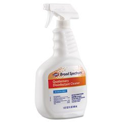 Broad Spectrum Quaternary Disinfectant Cleaner, 32oz Spray Bottle